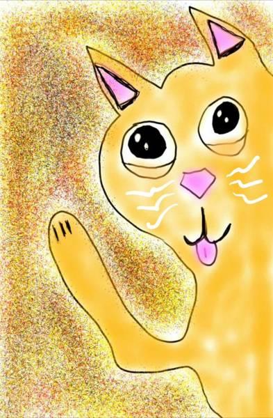 Hello Little Kitty Art Print