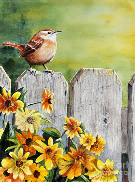 Wren Painting - Hello Morning by John W Walker