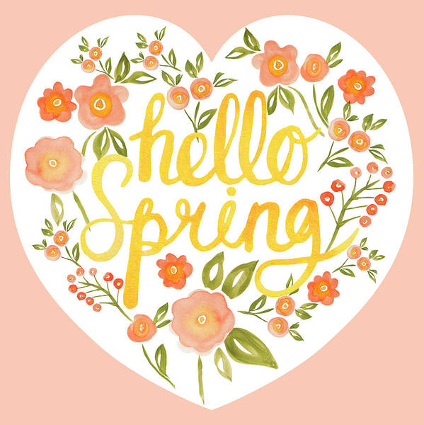 Wall Art - Painting - Hello Spring Collection Placement Design by MGL Meiklejohn Graphics Licensing