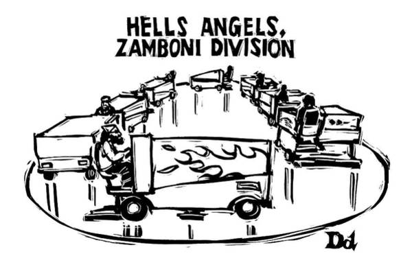 2004 Drawing - Hells Angels by Drew Dernavich