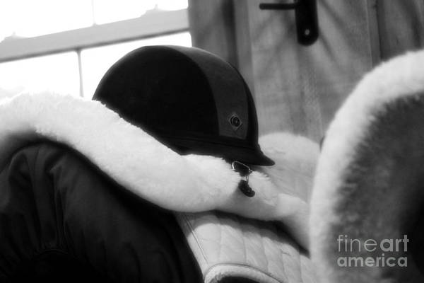 Photograph - Helmet And Saddle Pads by Janice Byer