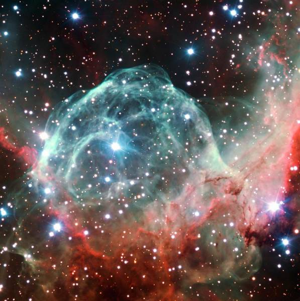 Wall Art - Photograph - Helmet Nebula by B. Bailleul/european Southern Observatory/science Photo Library
