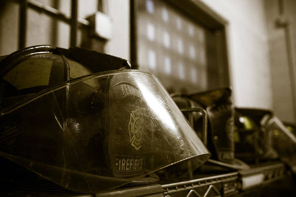 Photograph - Helmets On Guard by Chris Bordeleau
