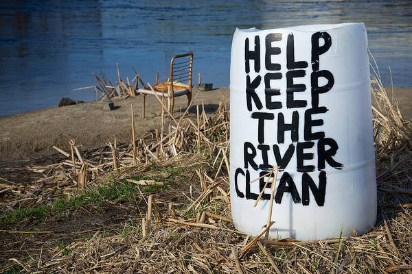 Photograph - Help Keep The River Clean by Mary Lee Dereske