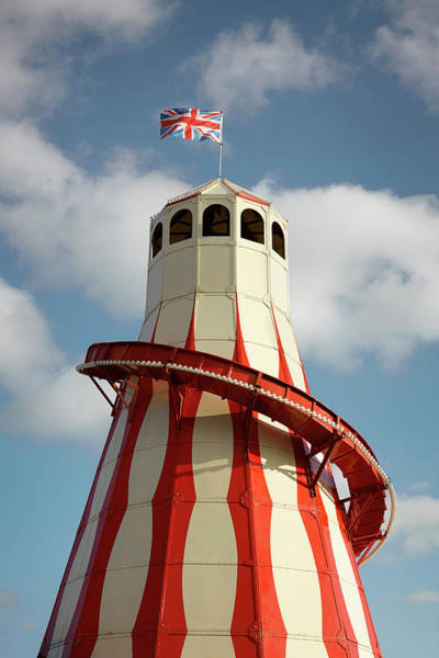 Photograph - Helter Skelter Ride With British Flag by Alan Powdrill
