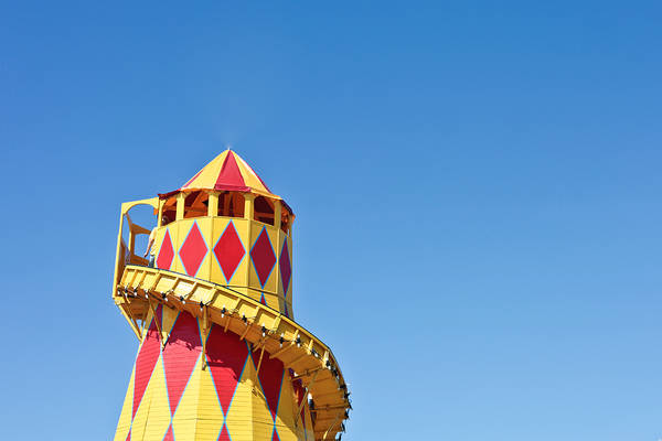 Fair Ground Photograph - Helter Skelter by Tom Gowanlock