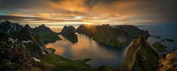 North Sea Photograph - Helvete Midnight Sun by Wojciech Kruczynski