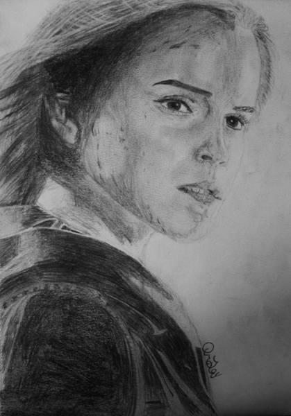 Ron Weasley Wall Art - Drawing - Hemione Granger by Jaedin Always