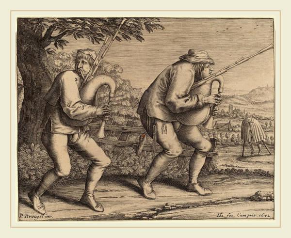 Wall Art - Drawing - Hendrik Hondius I After Pieter Bruegel The Elder Dutch by Litz Collection
