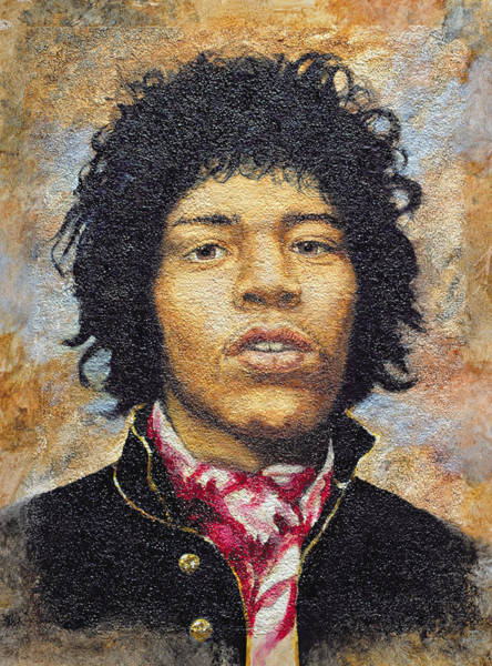 Wall Art - Photograph - Hendrix 1942-70 Oil On Polytex Board by Trevor Neal