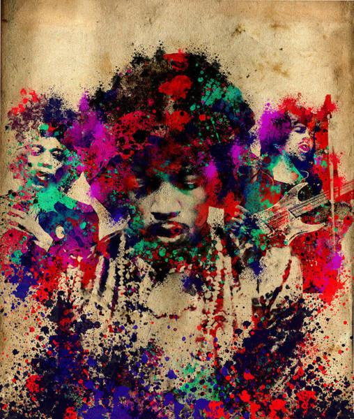 Wall Art - Painting - Hendrix 2 by Bekim M