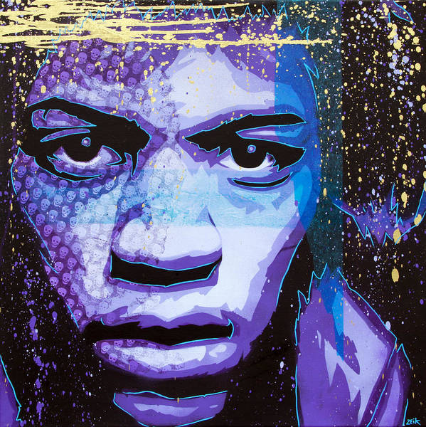 Wall Art - Painting - Hendrix - Eyes Of Neptune - Alternate by Bobby Zeik