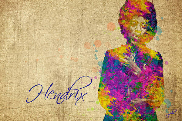 Digital Art - Hendrix by Paulette B Wright