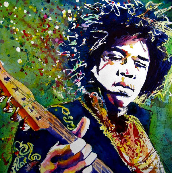 Rockstar Painting - Hendrix by Rebecca Foster