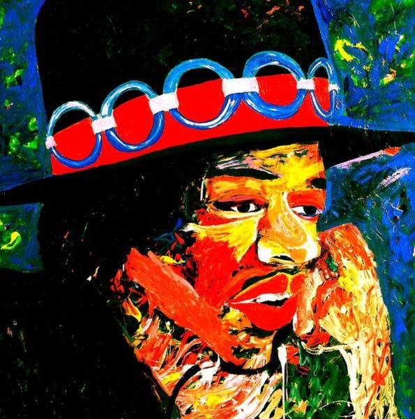 Painting - Hendrix Rocks by Neal Barbosa