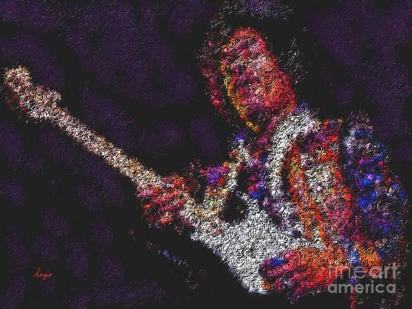 Rocker Painting - Hendrix by Sergio B