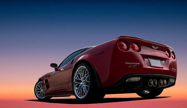 Corvette Wall Art - Digital Art - Hennessey Red by Douglas Pittman