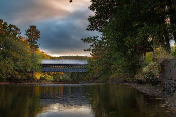 Henniker Photograph - Henniker Covered Bridge by Sam Johansson