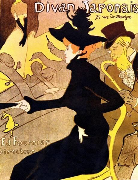 Elegant Drawing - Divan Japonais Poster by Henri de Toulouse-Lautrec