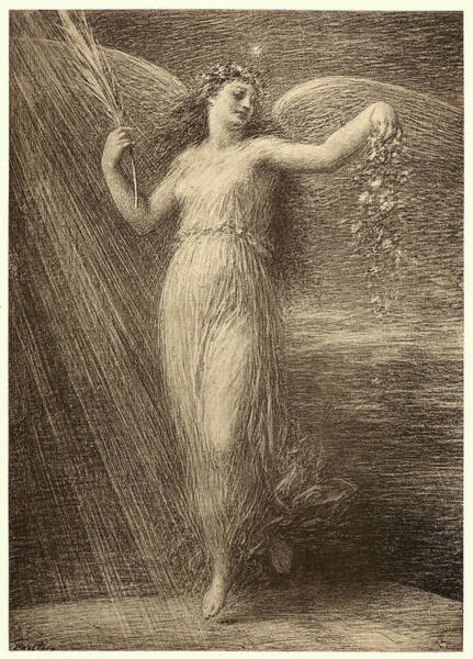 Wall Art - Drawing - Henri Fantin-latour French, 1836 - 1904. Immortality by Litz Collection