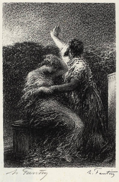 Mage Wall Art - Drawing - Henri Fantin-latour, Le Mage Balthazar Et Fatime by Quint Lox