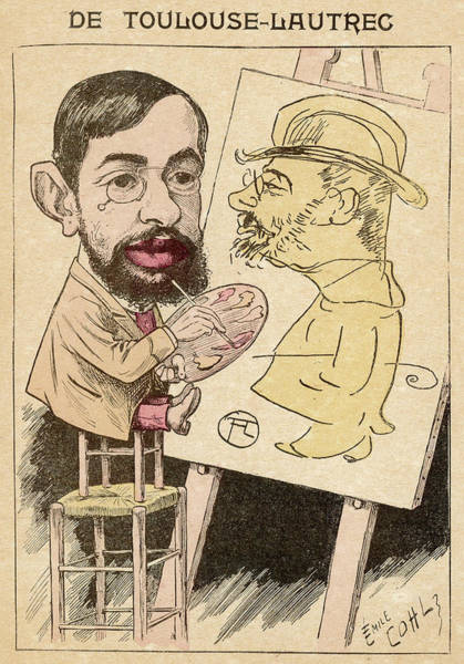 Pince Nez Painting - Henri-marie-raymond De Toulouse-lautrec by Mary Evans Picture Library