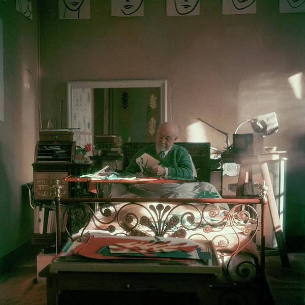 Furniture Photograph - Henri Matisse In Bed by Clifford Coffin
