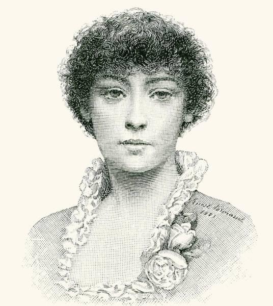 Beautiful Girl Drawing - Henrietta Emma Ratcliffe Rae by English School