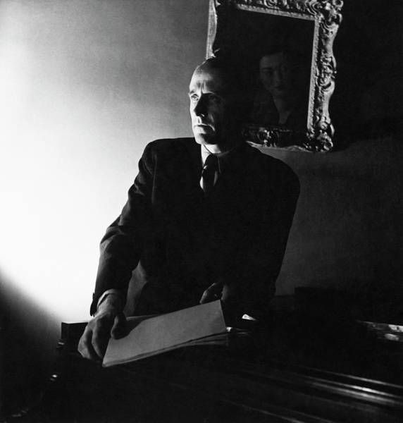 Wall Art - Photograph - Henry Barraud Holding Paper by Horst P. Horst