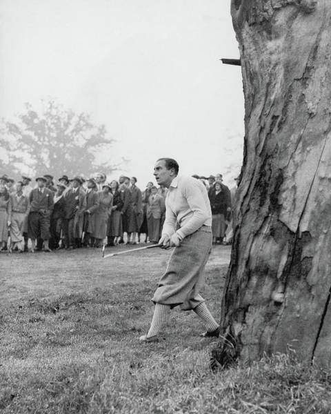 People Watching Photograph - Henry Cotton Playing Golf by Keystone Press Agency Ltd