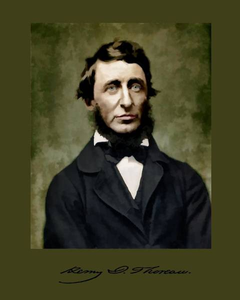 Digital Art - Henry David Thoreau by John Feiser