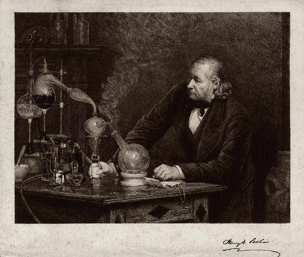 Etching Wall Art - Photograph - Henry Davis Pochin by Museum Of The History Of Science/oxford University Images