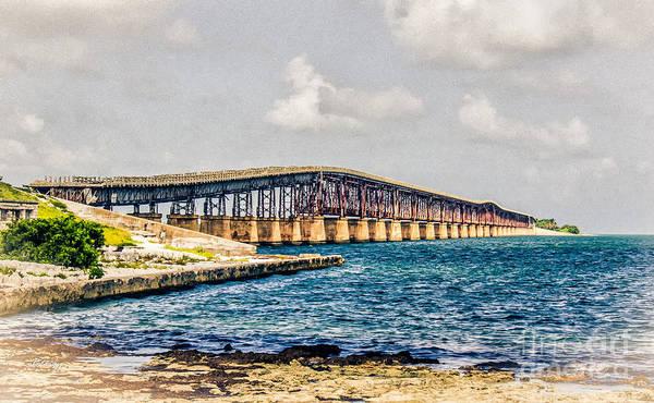 Flagler Photograph - Henry Flagler's Railroad Bridge Key West Florida by Rene Triay Photography