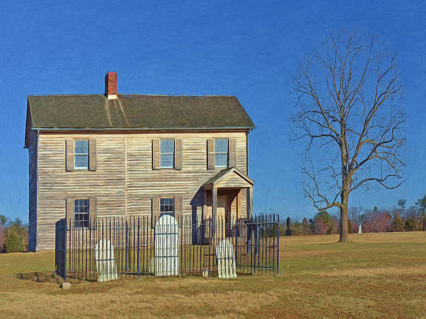 Digital Art - Henry House In Winter / Manassas National Battlefield by Digital Photographic Arts