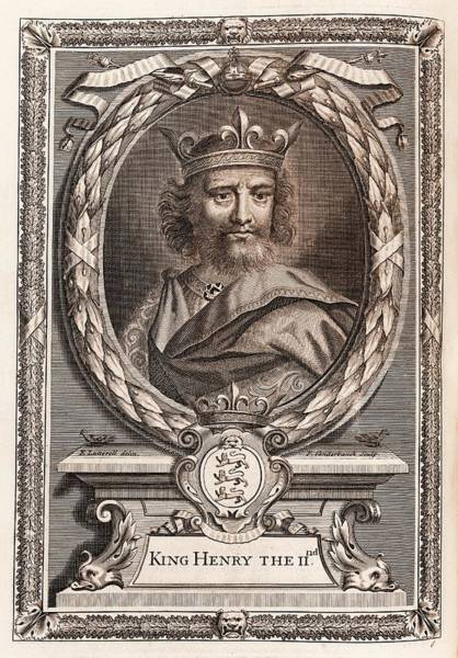 Middle Ages Photograph - Henry II by Middle Temple Library