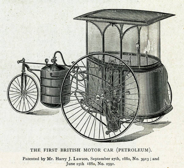 Petroleum Drawing - Henry J Lawson's Patented Design by Mary Evans Picture Library