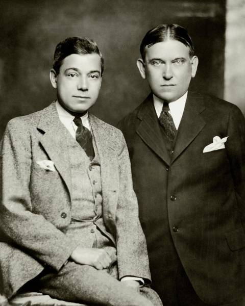 January 1st Photograph - Henry L. Mencken And George Jean Nathan by Ben Pinchot