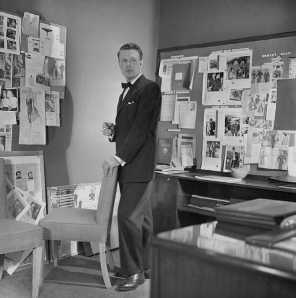 Office Furniture Photograph - Henry Lee Munson In A Business Suit by Horst P. Horst