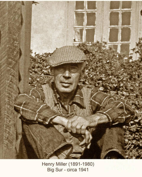 Photograph - Henry Miller Author Big Sur California Circa 1941 by California Views Archives Mr Pat Hathaway Archives