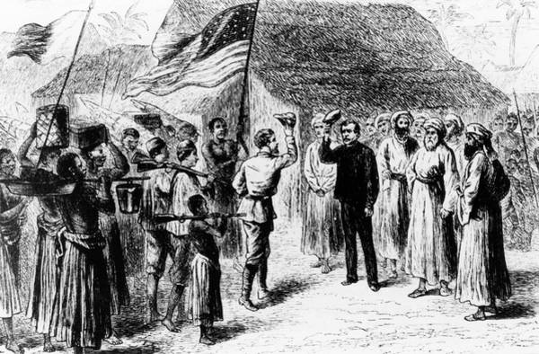 Missionary Photograph - Henry Stanley Meets David Livingstone by Science Photo Library