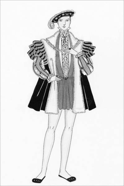 July 15th Digital Art - Henry Viii Style Clothing by Claire Avery