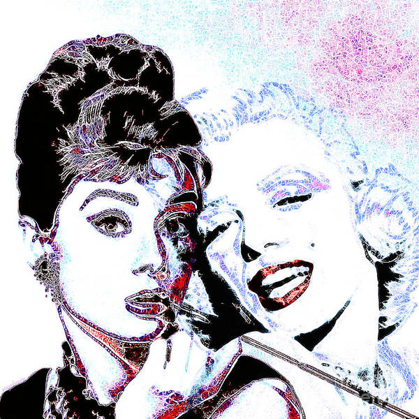 Photograph - Hepburn And Monroe 20130331 Square by Wingsdomain Art and Photography
