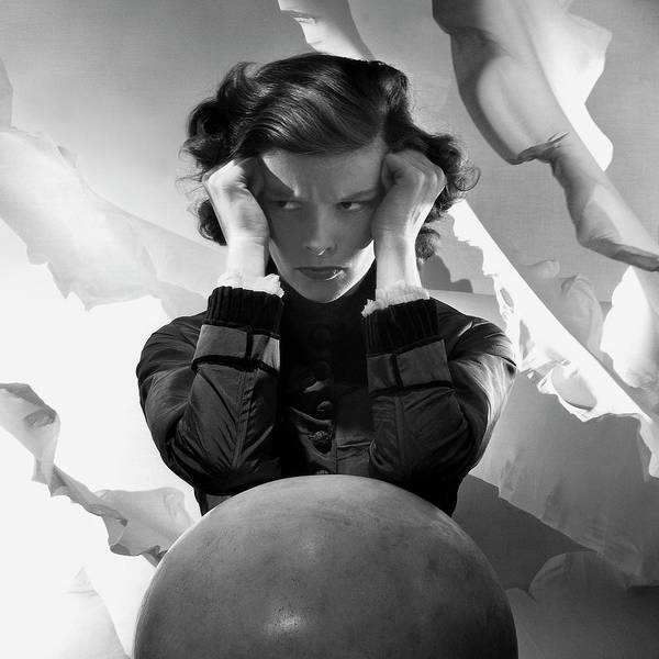 4 Photograph - Hepburn Pout by Cecil Beaton