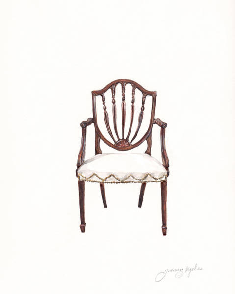 Girly Painting - Hepplewhite Armchair by Jazmin Angeles