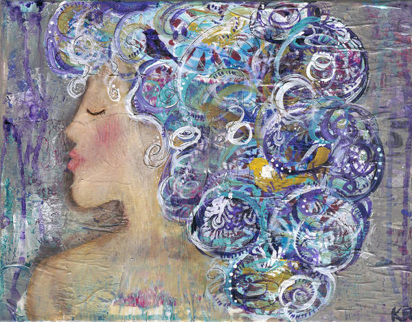Wall Art - Painting - Her Creative Mind by Kirsten Reed