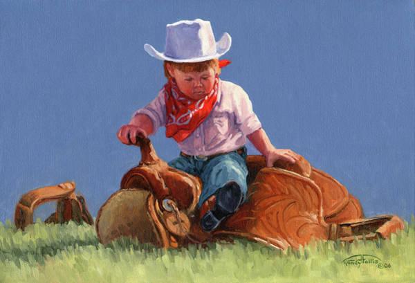 Follis Wall Art - Painting - Her First Taste Of Texas by Randy Follis