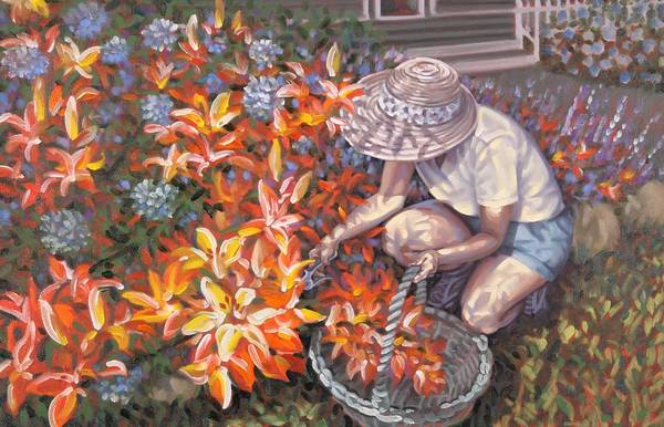 Painting - Her Garden by Gary M Long