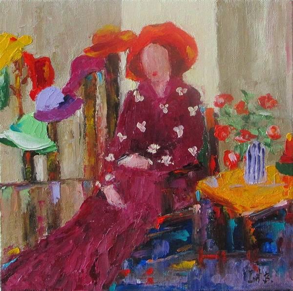 Her Hats Art Print by Irit Bourla