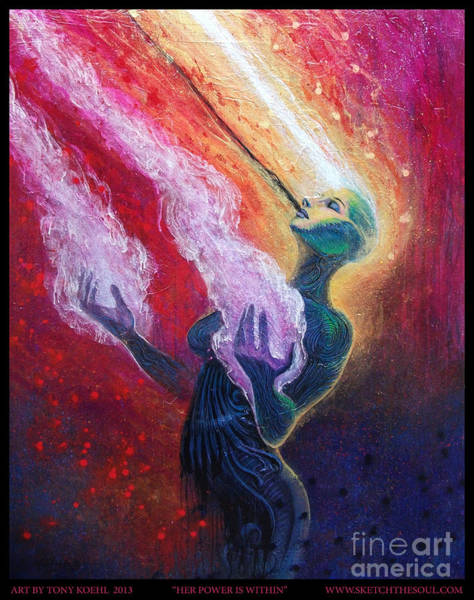 Painting - Her Power Is Within by Tony Koehl