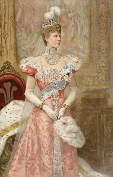 Ermine Wall Art - Drawing - Her Royal Highness The Princess by Samuel Begg